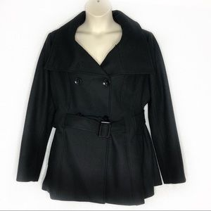 Torrid Black Wool Blend Double Breasted Coat